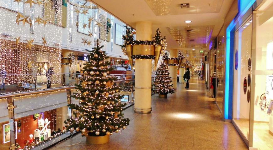 Magia świąt w centrum handlowym